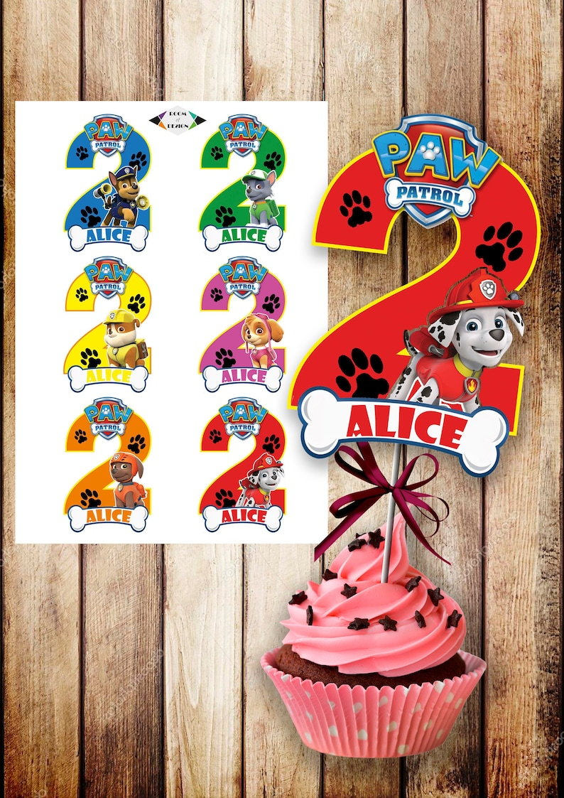 Stupendous Personalized Paw Patrol Printable Paw Patrol Centerpiece Paw Patrol Party Paw Patrol Birthday Diy Number 2 Paw Patrol Toppers Download Free Architecture Designs Scobabritishbridgeorg