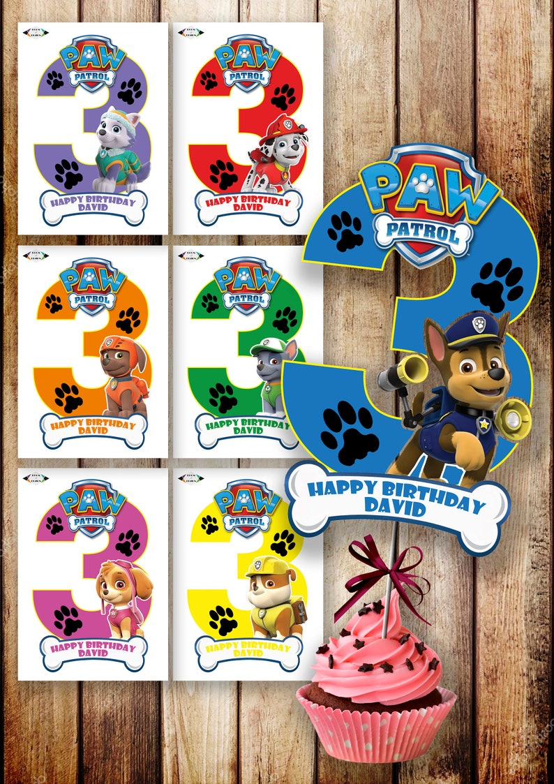 picture about Paw Patrol Printable Pictures identified as Paw Patrol printable - paw patrol - Paw Patrol Centerpiece - Paw Patrol Variety 3 Centerpieces - Paw Patrol Occasion - Paw Patrol Birthday Do it yourself