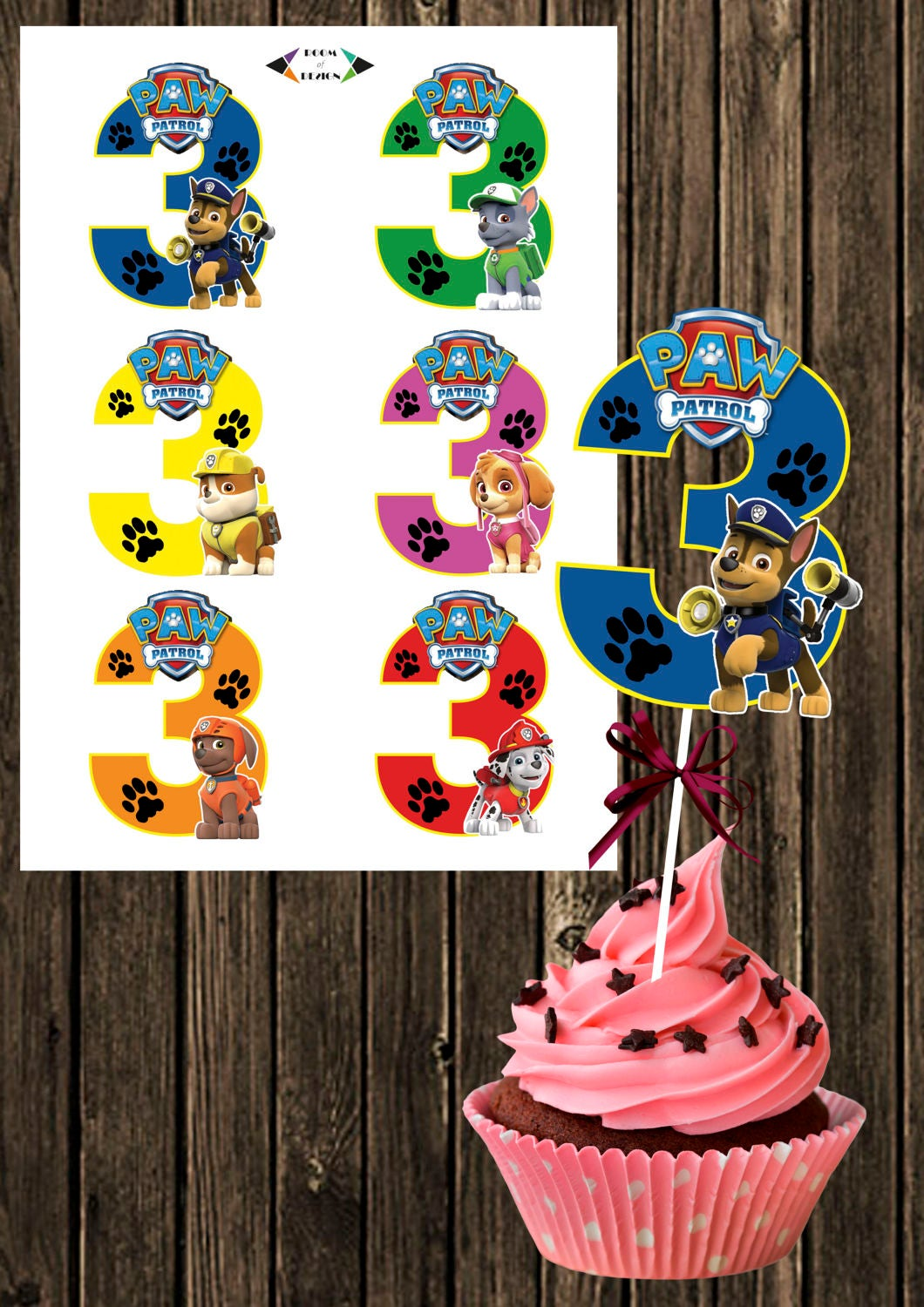 Punchy image for paw patrol printable decorations
