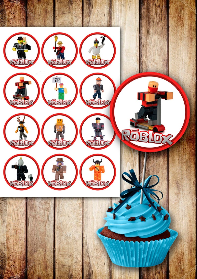 12 Roblox toppers- roblox Birthday - roblox printable - roblox digital -  Roblox Birthday Party - roblox Party - Roblox - Roblox birthday