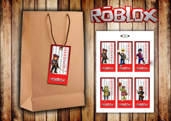 Roblox Printable Roblox Tags Roblox Thank You Tags Roblox Etsy