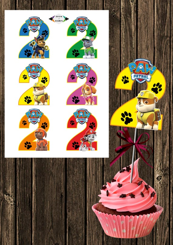 Brilliant Paw Patrol Printable Paw Patrol Number 2 Centerpieces Paw Patrol Centerpiece Paw Patrol Party Paw Patrol Birthday Diy Number 2 Download Free Architecture Designs Scobabritishbridgeorg