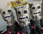 Creepy Sack Man Art Doll, Creepy Cute, Scarecrow Doll, Creepy Doll, Halloween Doll, Horror Christmas, Alternative Gift, Monster Gift, Gothic
