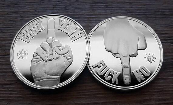 Entscheidung Maker Münze Fuck Janein Silber Etsy