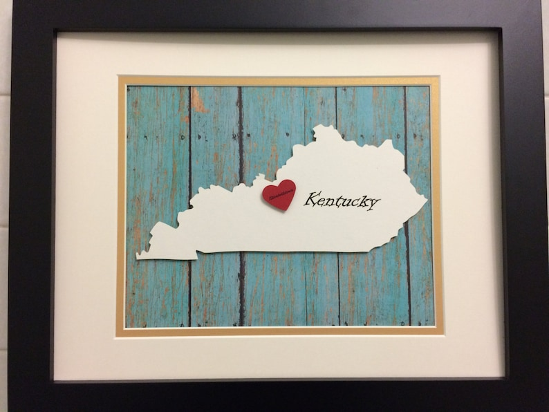 Kentucky State Art, Anniversary Gift, Gift for Newlyweds, Gifts for on black kentucky map, funny kentucky map, cartoon kentucky map, print kentucky map, 3d kentucky flag, 3d kentucky outline, 3d kentucky poster, hd kentucky map,