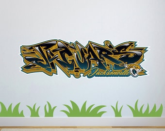 Jacksonville Jaguars Graffiti Custom Wall Decal