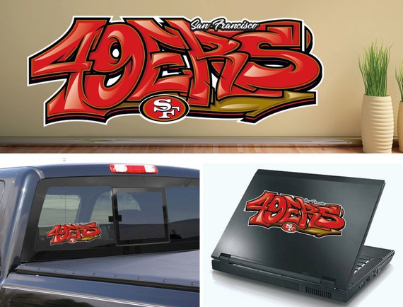 laptop  CHOOSE COLOR die cut vinyl San Francisco 49ers decal sticker for car