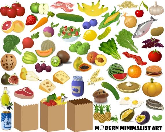 60 PNGS Essen Clipart Lebensmittelgeschäft Clipart | Etsy