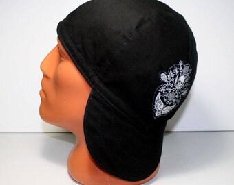 Wing Skulls. Welders Hats, Bikers Caps, Welding Cap Hat, Cotton.