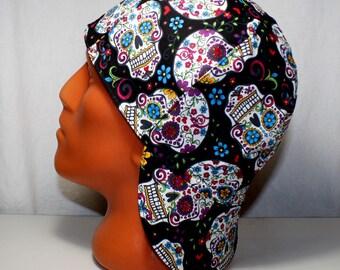 Sugar Skulls Welders Hats, Bikers Caps, Welding Cap Hat, Cotton. #130