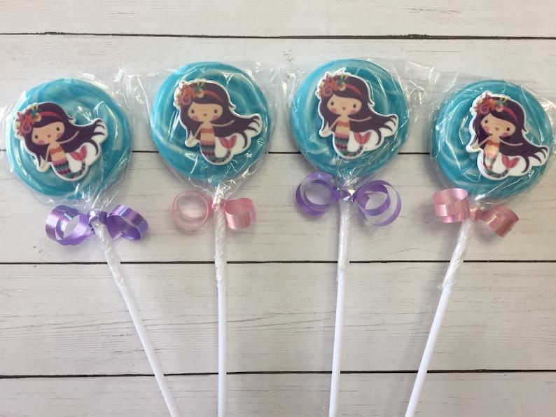 under the sea lollipops unders the sea party favors lollipop set of 12 Mermaid party favors mermaid lollipops mermaid