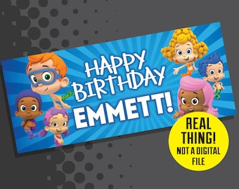 Bubble guppies birthday banner etsy bubble guppies birthday bubble guppies birthday banner maxwellsz