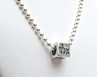 kabbalah judaica sterling silver amulet necklace alad god 72 name bead for good luck