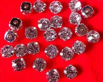 d9b92a06eb9 Montees Crystal Clear 500pcs Sew On Rhinestones 3mm