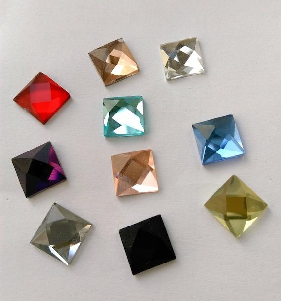 ed61f3936b Flat Back Glass Crystal Rhinestones Square 8mm 10mm loose big rhinestones  glass crystals beads NON HOTFIX