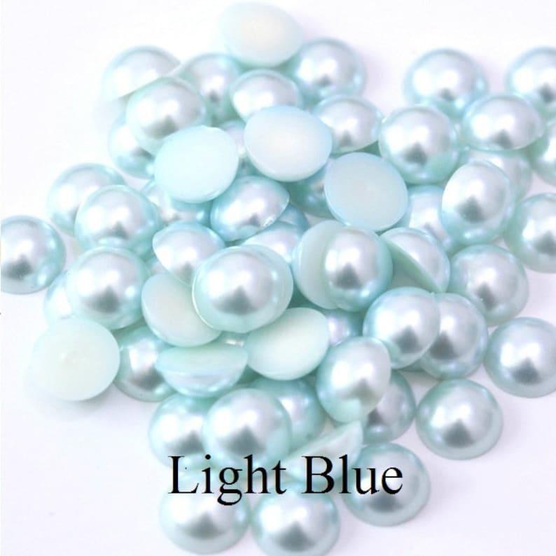 Deep Pink 800pcs Mixed Sizes  2-10mm Flat Back Pearl bead 2mm 3mm 4mm 5mm 6mm 8mm 10mm half round loose flatback plastic acrylic bead pearl