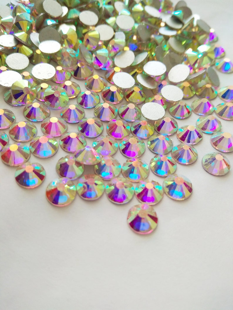 1440 pcs Crystal AB Flat Back Rhinestones Crystal wholesale image 0