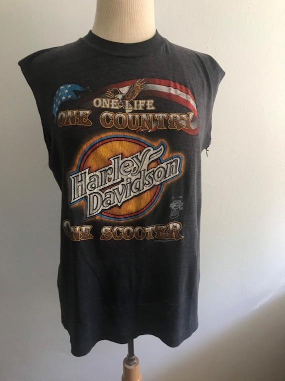 1985 3D emblem Harley Davidson tshirt