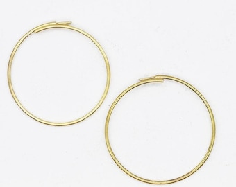 "1 1//2/"" Earring Hoops Add A Bead Charm Holder 38mm Goldtone Pack of 20"