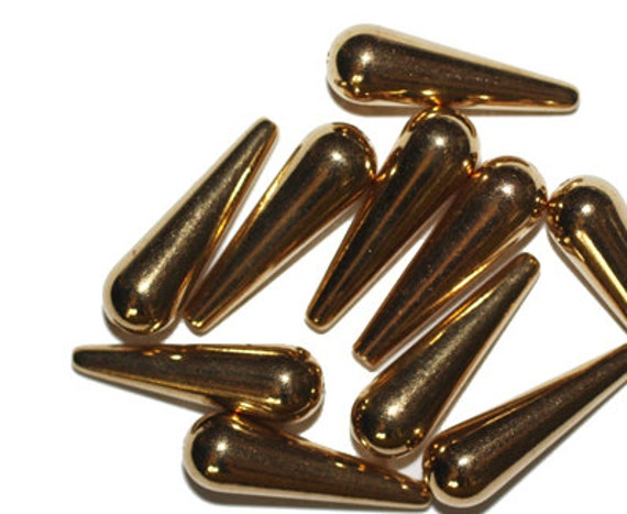 9mm Round Rosebud Antiqued Goldtone Metalized Metallic Beads