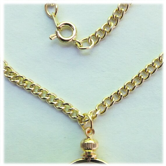 "Coin Holder Necklace Kit Penny USA 1 Cent 20/"" Gold Plated Chain with Bezel"