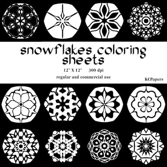 Hojas De Copo De Nieve Para Colorear