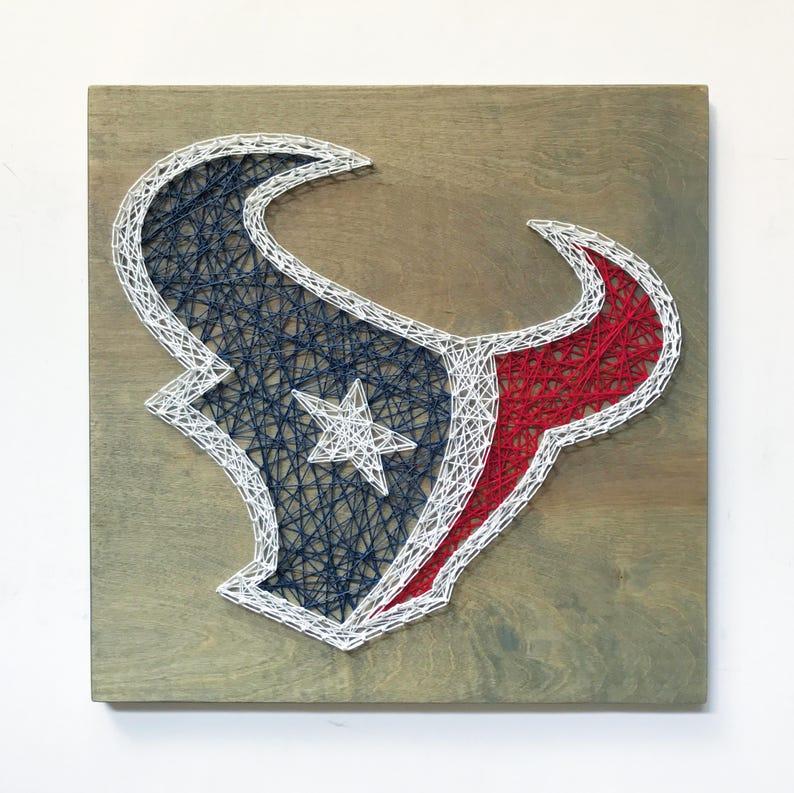 7ebad12d Houston Texans String Art, Texans Logo, Football Decor, Custom Team Art,  Man Cave Decor