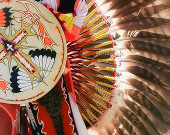Eagle Feather, Indian Headdress, Native American Indian, Photo, Heritage, Rustic Art, Steve Traudt, Home Decor, Wall Art