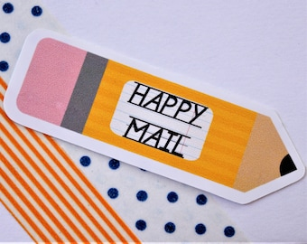 Happy Mail Pencil Stickers