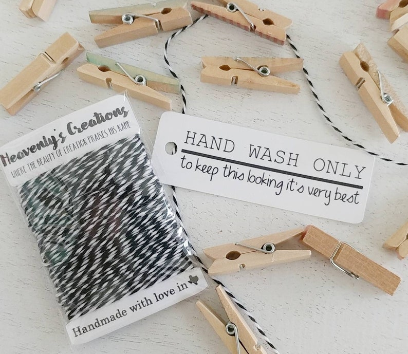 Hand Wash Only Hang Tags  20 Ct image 0