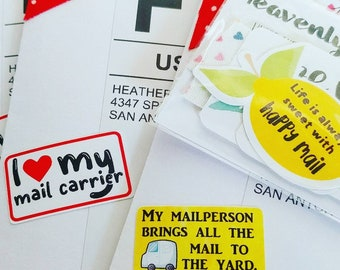 My Mailperson Brings All The Mail To The Yard - Custom Sticker, Packaging Sticker
