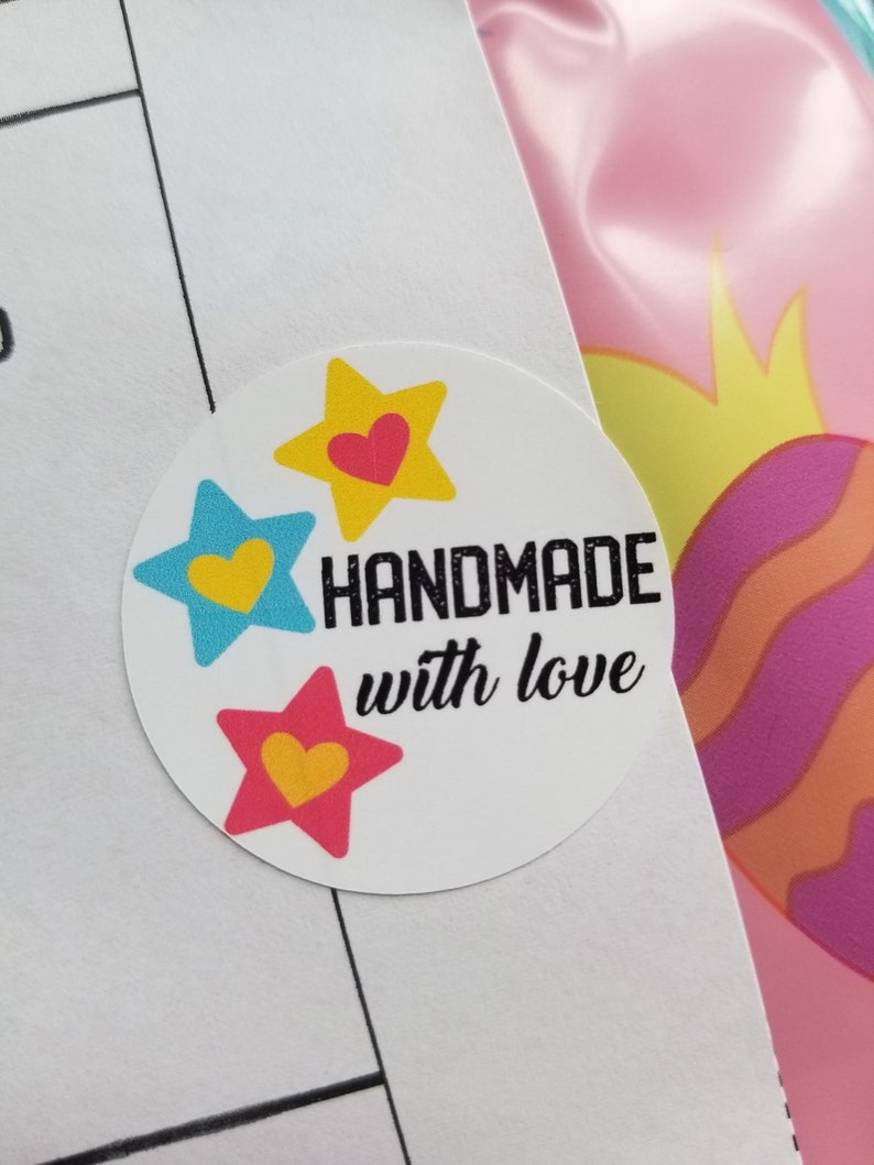 Handmade With Love Stickers  15 Ct image 0