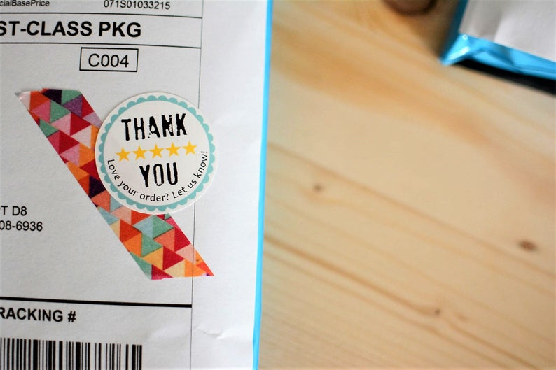 Review Stickers - Etsy, Shopify, YOTPO, & Store Envy Inspired - 15 Ct