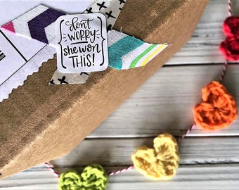 Shop Exclusive - Don't Worry She Won This - A Lettered By Stephanie & Heavenly's Creations Collaboration- Packaging Stickers 21 Ct