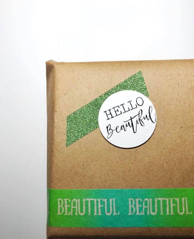 Hello Beautiful Stickers  15 Ct image 0