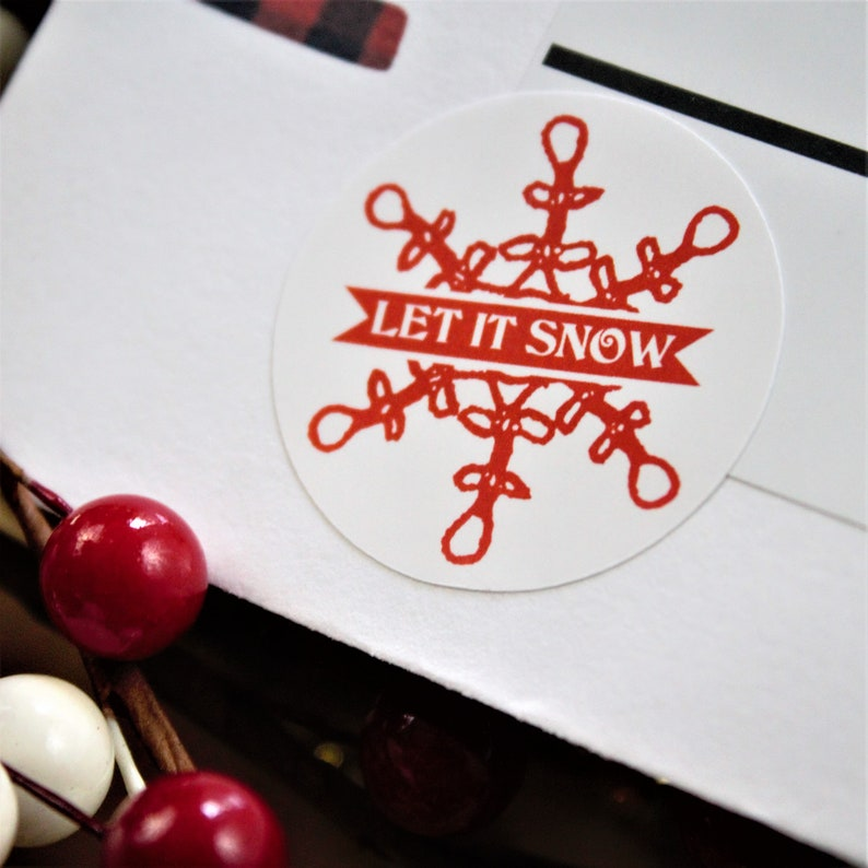 Let It Snow Seasonal Stickers  15 Ct image 0