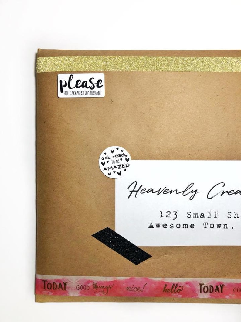 Please Hide Packages From Husband Sticker  15 Ct image 0