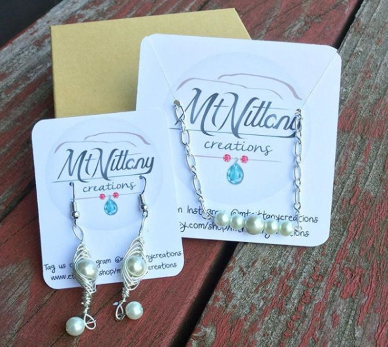 Jewelry Display Cards  Earring Display Cards  Necklace image 0