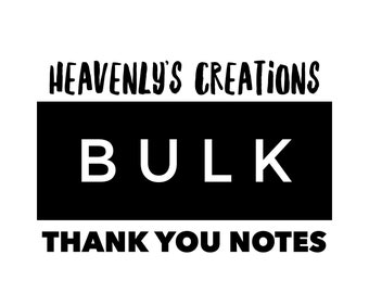 Bulk - Thank You Note Minis - Cardstock Only