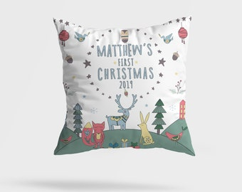 PERSONALISED FIRST CHRISTMAS BABY FLEECE BLANKET VARIOUS COLOURS /& DESIGNS GIFT