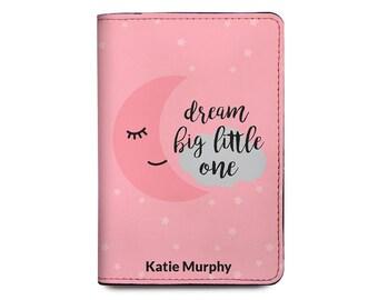 79d581544 Kids Passport Holder - Personalized Passport Cover - Family Passport Cover  - Passport Holder For Kids - Dream Big Little One
