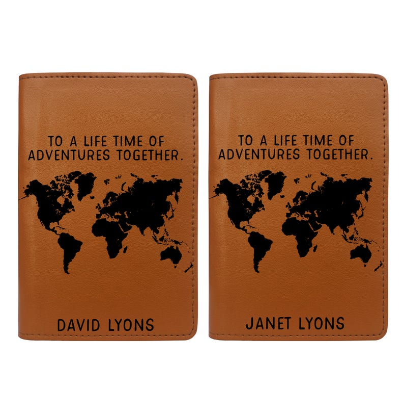 Lifetime of Adventures Together  Couple Passport Holder Set image 0