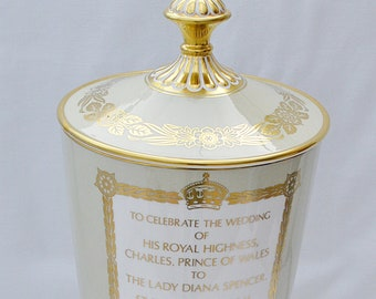 Spode Charles & Diana Royal Wedding 1981 Limited Edition Chalice Vase