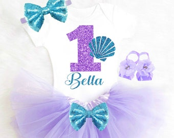 Mermaid Birthday Outfit Mermaid First Birthday Outfit 1st Birthday Girl Outfit Sea Shell Birthday Outfit Girl Mermaid Party Mermaid Tutu 33