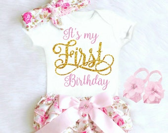 08a9ff3b854fa First Birthday Outfit Girl 1st Birthday Girl Outfit Baby Girl Clothes Baby  Girl Boho Birthday Outfit Summer Its My 1st Birthday Cake Smash
