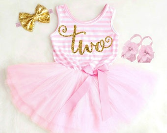 c1c7ec5c0beb9 2nd Birthday Outfit Girl Second Birthday Outfit 2nd Birthday Dress Two Year  Old Birthday Clothing Second Birthday Dress First Birthday Dress