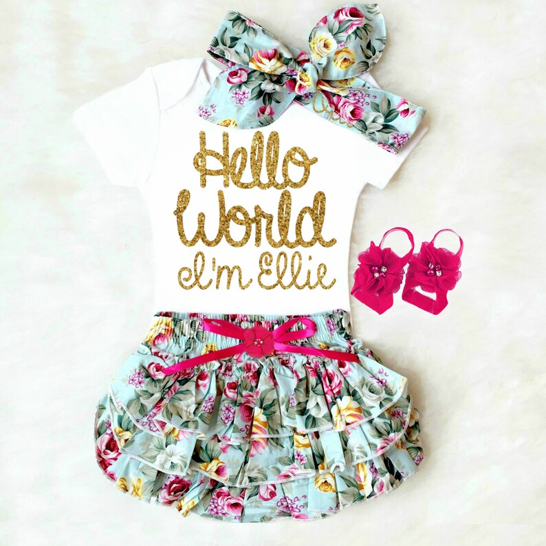 f632ade1c Baby Girl Coming Home Outfit Newborn Girl Take Home Outfit