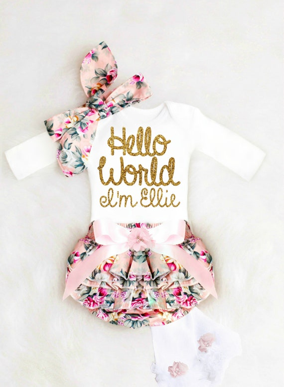 Baby Girl Coming Home Outfit Baby Girl Clothes Baby Girl Gift Newborn Girl Coming Home Outfit Newborn Girl Clothes Baby Girl Dresses