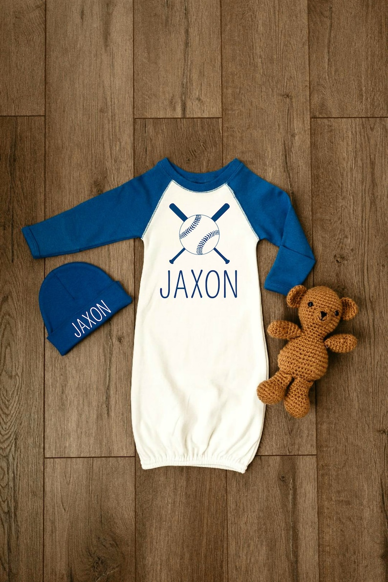 Baby Boy Coming Home Outfit Personalized Baby Boy Gift Newborn Boy Clothes Baby Boy Clothes Baseball Boy Take Home Outfit Baby Hat Boy