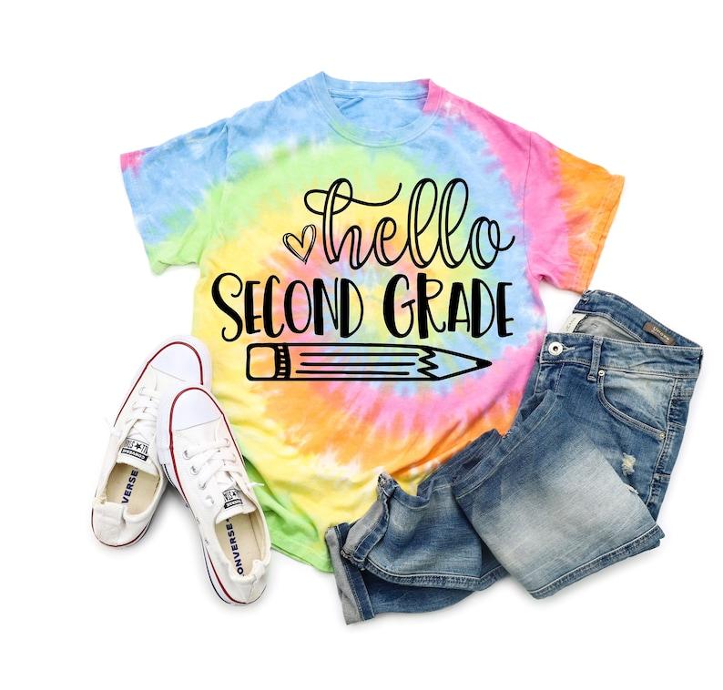Hello Second Grade Shirt 2nd Grade Shirt Girl First Day of SECOND GRADE